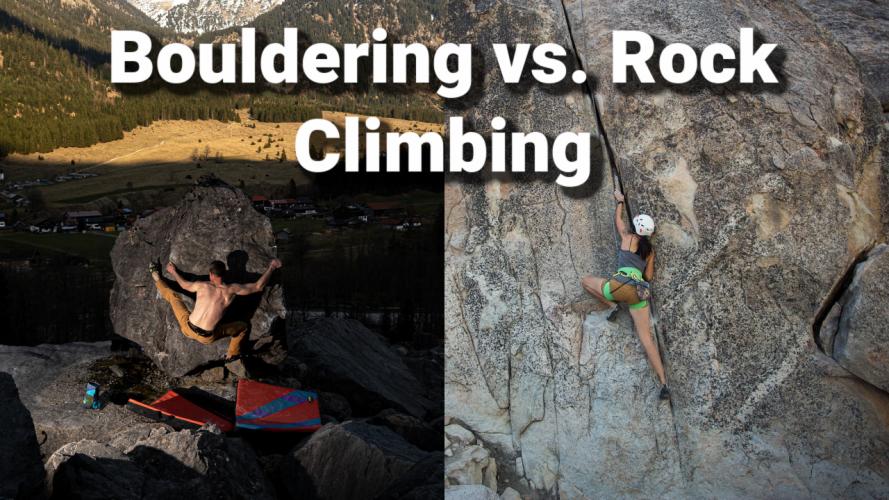 bouldering vs. rock climbing